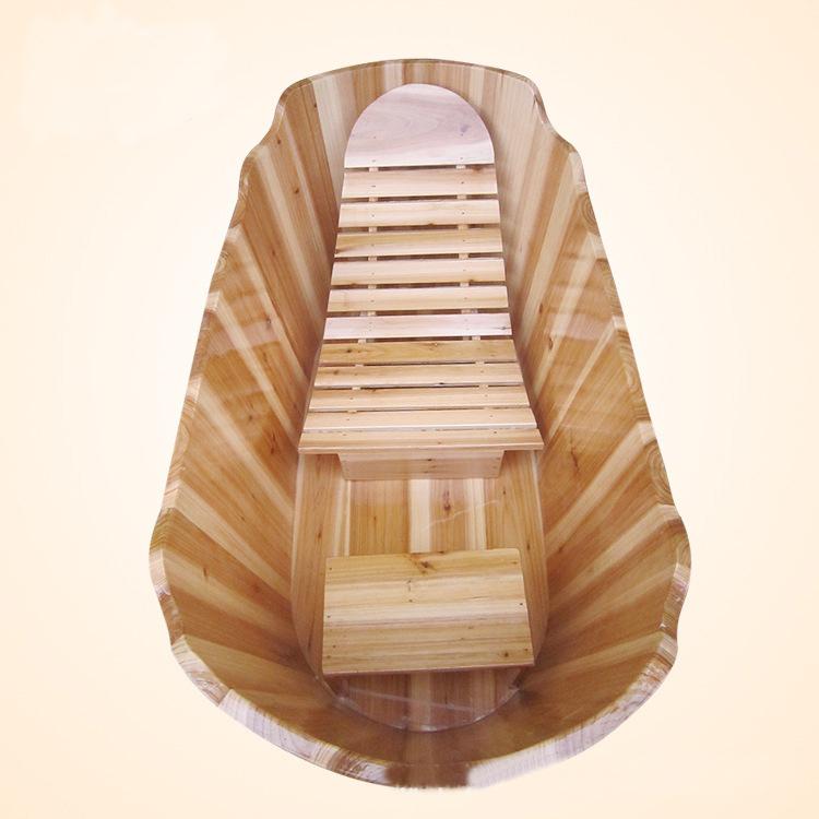 Tinas De Baño De Madera:Madera tina con silla, tina de madera para remojo, bañera de madera
