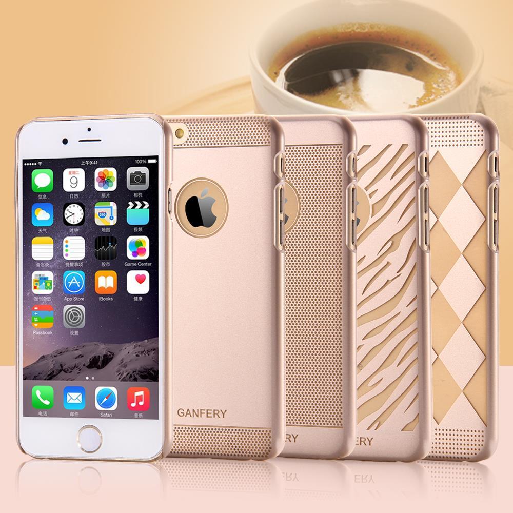 100 шт./лот оптовая продажа DHL роскошные ультратонкий жесткого пластика телефон чехол для Apple , iPhone 6 плюс 5.5 дюймов ясно золото задняя крышка FLM