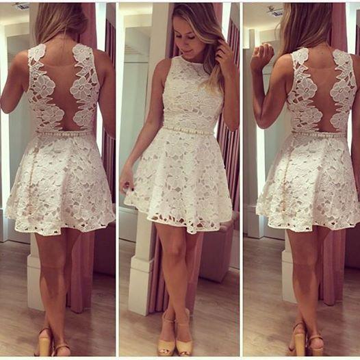 Ажурные платья короткие фото