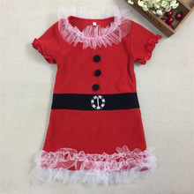 2016 New Fashion Baby Girls Christmas Dress Girls New Year Summer Cotton Tutu Dress  G13