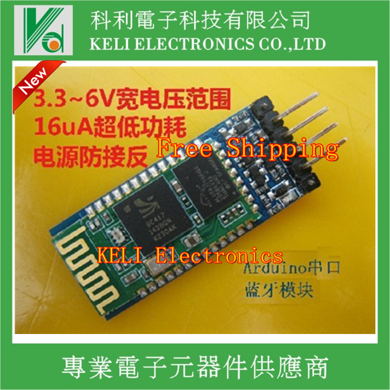 Free shipping 1PCS/LOT HC-06 Wireless Serial 4 Pin Bluetooth RF Transceiver Module RS232 TTL for Arduino + Drop Shipment(China (Mainland))