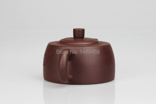 Folk artist Tianmu Yixing pure manual hand engraved text purple clay teapot set excellent capacity of