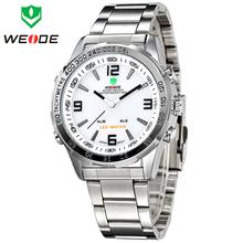 Nuevo WEIDE lujo marca reloj militar LED Digital multifunción para hombre Diver deporte relojes de cuarzo Casual Outdoor vestido reloj de pulsera