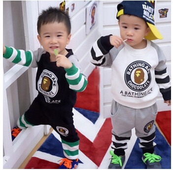 Promotions 2015 version new fall winter clothes influx small children's clothing bape piece suit - Top Buy store