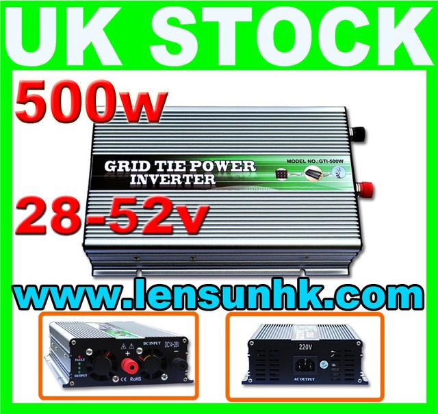 WHOLESALE UK STOCK,500W Grid Tie Inverter 28-52V DC,230V AC,FAST SHIP,NO CUSTOM TAX