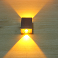 2W Aluminum Square Led Wall Lamp AC85 265V COB High Power Led Modern Home Lighting Indoor