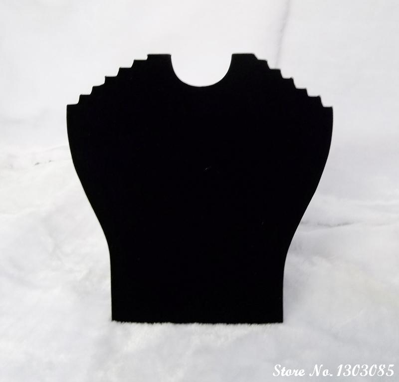wholesale black velvet fashion jewelry display boards for 6pcs necklace display stand bust holder 3pcs(China (Mainland))