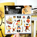 Pirates of Carribean Child Temporary Tattoo Body Art Flash Tattoo Stickers 17 10cm Waterproof Henna Tao