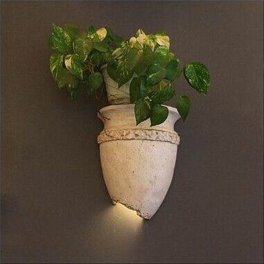 Фотография Modern European country hanging Gypsum bottle led wall lamp for aisle stairs home lights,E14*1 Bulb Included, AC 90V~260V