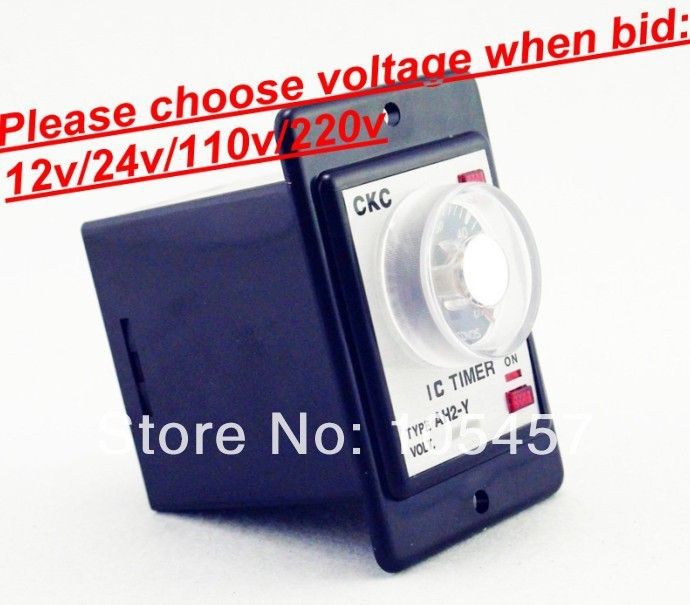 Power on delay timer time relay 0-60 seconds panel installation AH2-Y Choose voltage when bid(China (Mainland))