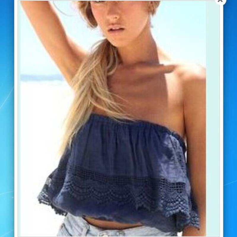 Summer-Sexy-women-strapless-crop-top-crochet-lace-tube-tops-cropped ...