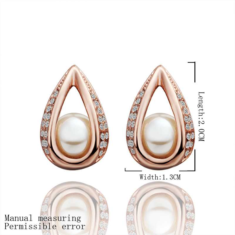 Fashion Design 18k gold plated earing golden beads in drop water stud earrings cufflinks Costume Jewellery SMTPE425(China (Mainland))