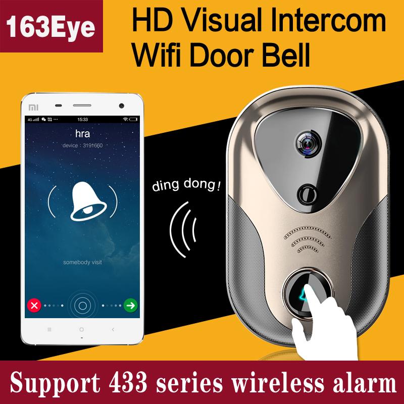 Video Door Intercom Wifi Ip Camera System Support 433