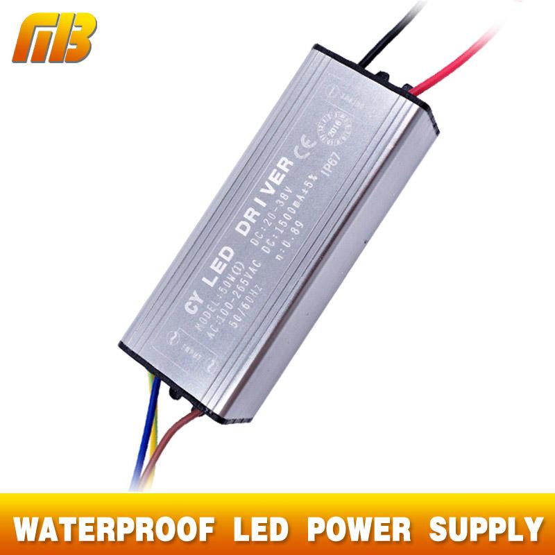 LED Driver 10W 20W 30W 50W 70W AC 100-265V To DC 20-38V MB Lighting For Flood Light Floodlight No Flicker(China (Mainland))