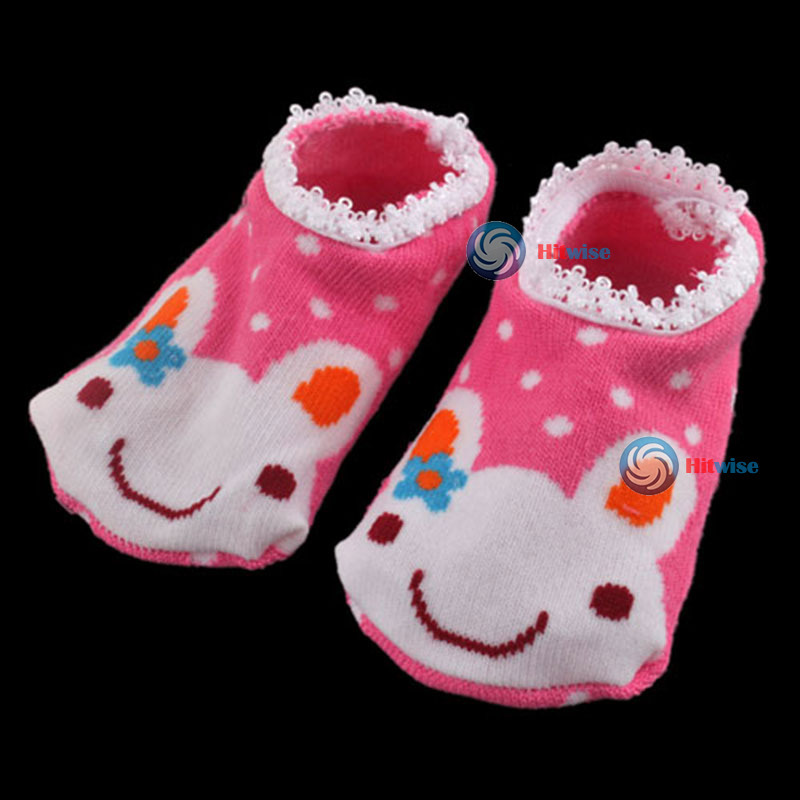 Leoniemart Fashion style Cute Baby Kids Toddler Ankle Socks Non-slip Booties Practical!(China (Mainland))