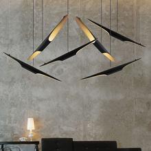 Coltrane Suspension LED Pendant Light Art Deco Restaurant Lamp Aluminum Pipe Chandleier Black&Golden Single Head(China (Mainland))