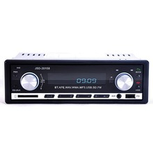 12V Car Radio Audio Stereo AUX-IN MP3 Player Bluetooth Handfree FM Phone Charger For iPone Galaxy S6 S7 S5 Remote Control 1 Din(China (Mainland))