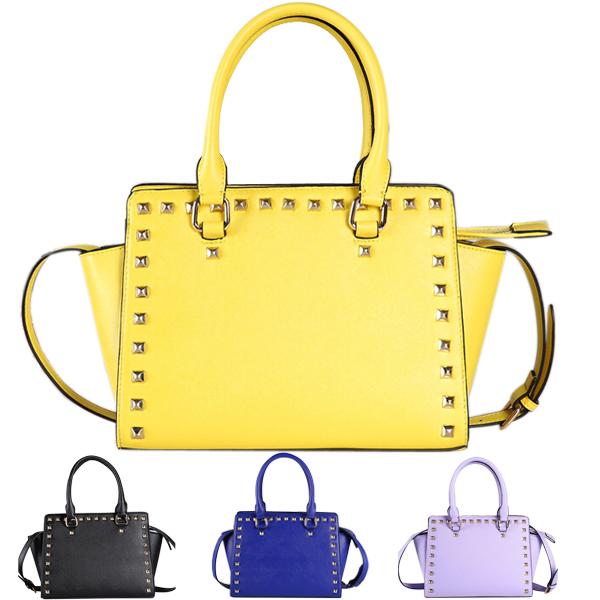 ladies handbags American brand big bag fashion bat rivet bags shoulder cross body bag handbag carteras de marcas famosas 2015(China (Mainland))