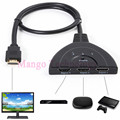 2016 1080P HD TV Adapter Cable 3 Port HDMI Multi Display Auto Switch Hub Box Splitter