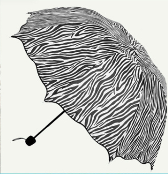 HOT Promotion Princess flounced fold arched creative cute zebra Clear UV sunscreen rainbow parasol Umbrella FREE SHIPPING U0087(China (Mainland))