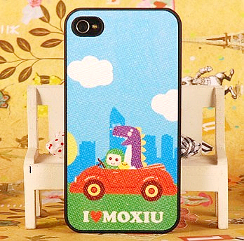 Scrub bus car ultra-thin veneer for iphone 4 4s phone case protective case for apple