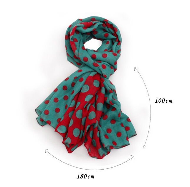2015 europe new arrival new design polka dot pattern style muslim print scarf spring Shawl wrap scarf/scarves 5pcs/lot(China (Mainland))