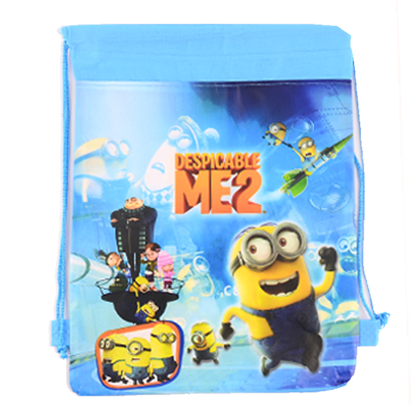 1Pic Minion Drawstring Bags for boys&girls Children School Bags Print Mochila Minion Backpack Camping Cute Kids Christmas Gifts(China (Mainland))