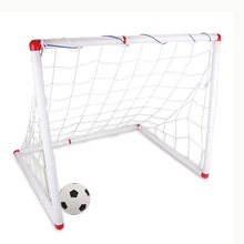 DIY Youth Sports Soccer Goals with Soccer Ball and Pump Practice Scrimmage Game - White(China (Mainland))