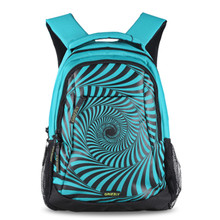 Geometric Stripes Laptop Bag Backpack Women Men Children Large Capacity Nylon Compact Men's Backpacks Unisex Women Bagpack(China (Mainland))