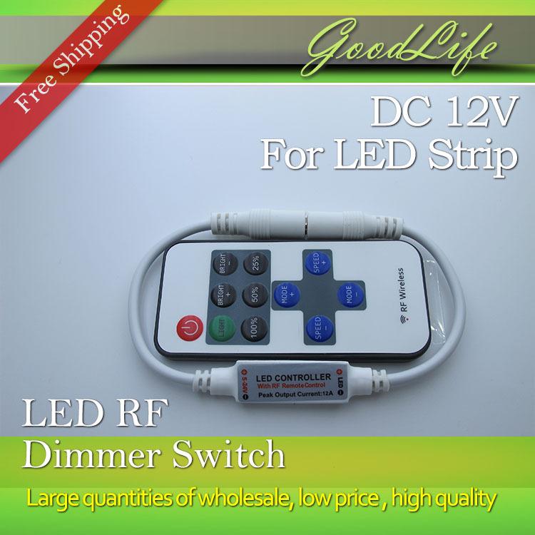 Гаджет  Mini RF Led dimmer DC5-24V for Led Strip 5050,3528,5630,5730,3014 , Free shipping None Свет и освещение