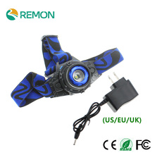 LED Headlight Cree Q5 Waterproof LED Headlamp Built-in Lithium Battery Rechargeable Head lamps + AC Charger 3 Modes(China (Mainland))