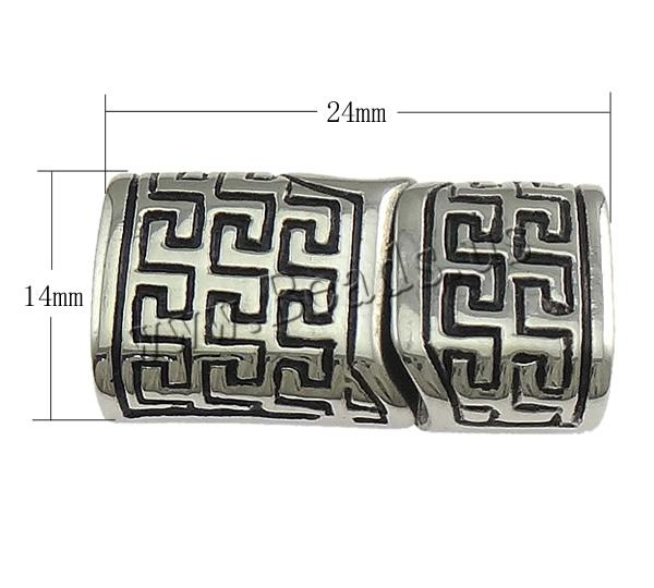 Free shipping!!!Stainless Steel Magnetic Clasp,Newest Design, Rectangle, platinum color plated, blacken, 24x14mm