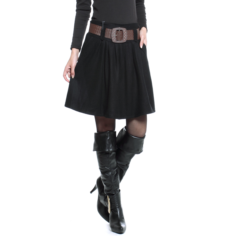 womens winter skirts with belt 2015 plus size m 4xl