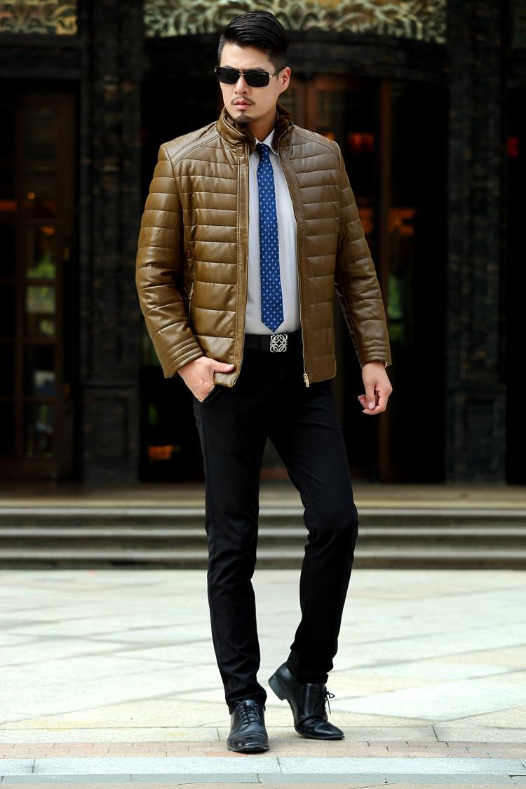 Здесь можно купить  2015 High Quality Winter Warm Regular Length Men Leather & Fur Jackets Casual Coats Real Image in Stock Size M/L/XL/XXL/XXXL  Одежда и аксессуары