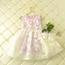 [Aamina] Butterfly Girls dresses, new summer baby girls clothes ,wholesale baby boutique clothing 5 pcs/lot–2101150