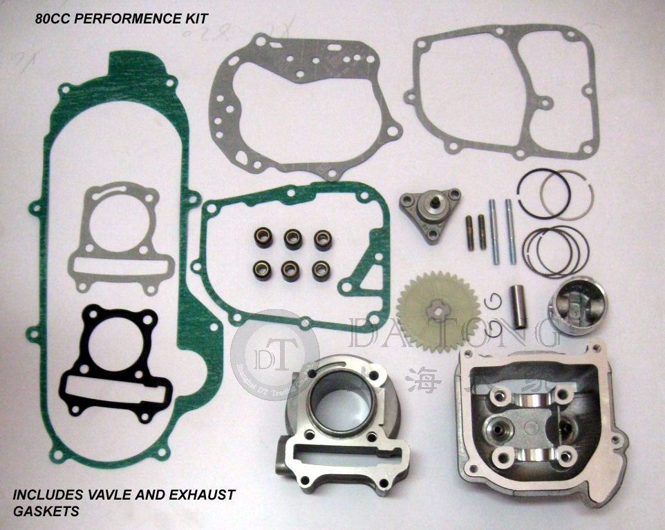 High Performance 80cc Big Bore Kits For 139QMA B font b GY6 b font 50 Engine