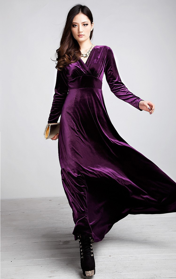 2015-New-Fashion-Women-clothing-velvet-V-neck-long-design-expansion-bottom-gold-velvet-full-dress.jpg
