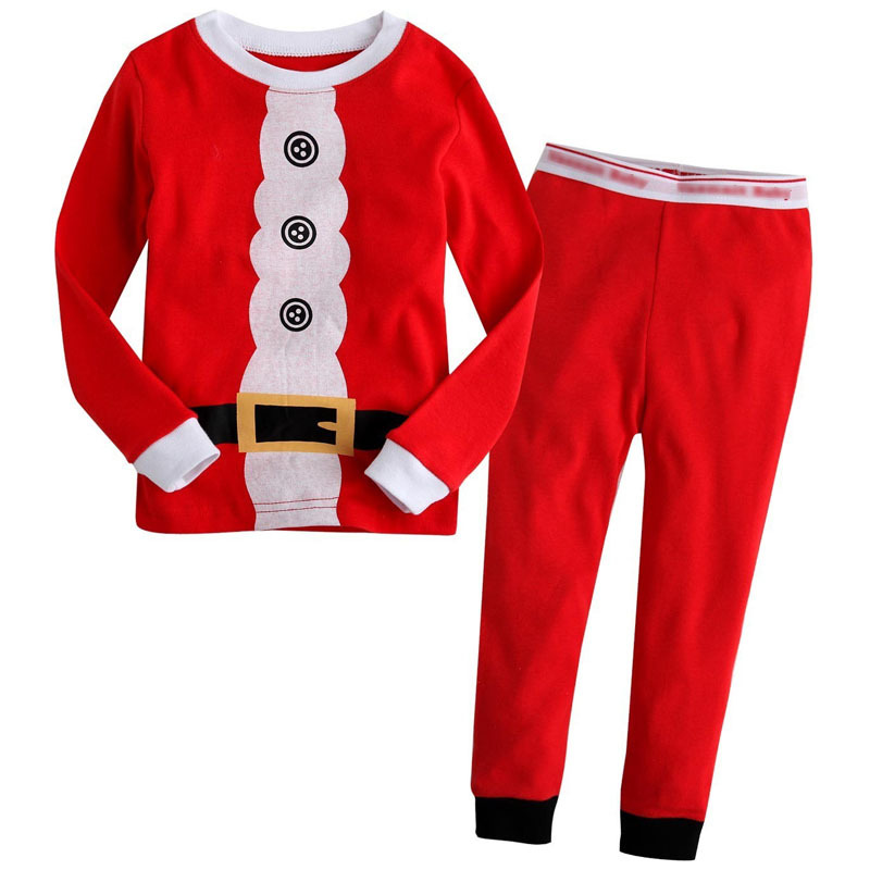 2015 New Children Autumn Winter Pajamas Sets Baby Boys Girls Christmas Costumes Kids Sleepwear Clothes pijama infantil CF239(China (Mainland))