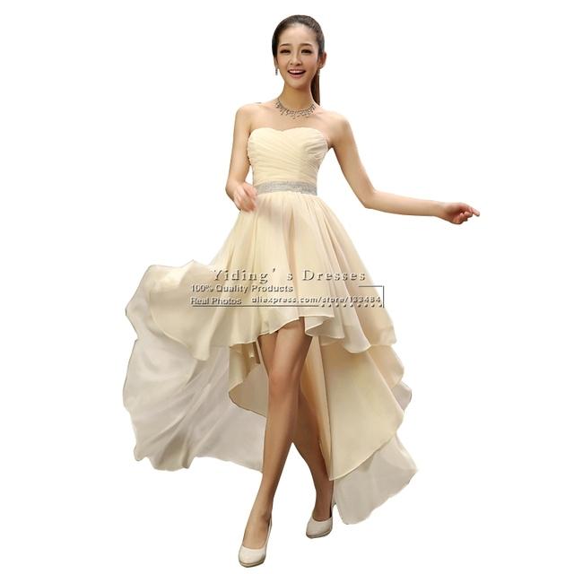 Свадебное платье новый тонкий короткий передний долго назад шифон Жилетido де Noiva ...
