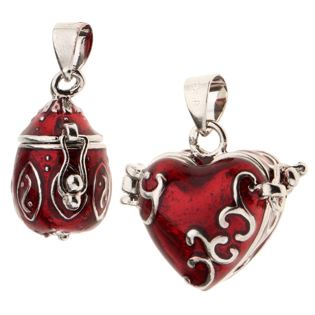 2pcs Love Heart Cremation Urn Ashes Holder Keepsake Waterproof Mini Jar