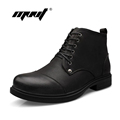 Keep warm men boots soft leather winter shoes outdoor men ankle boots waterproof lace up men