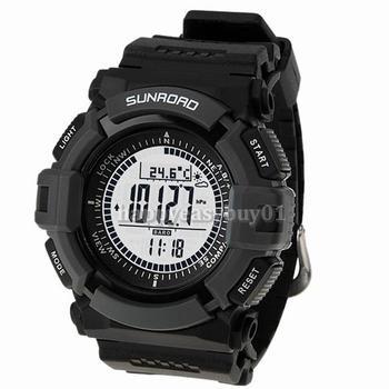 Мужская спорт Цифровые часы SUNROAD FR820A Высотомер Барометр Компас Термометр Погода Цифровой Шагомер Смотреть
