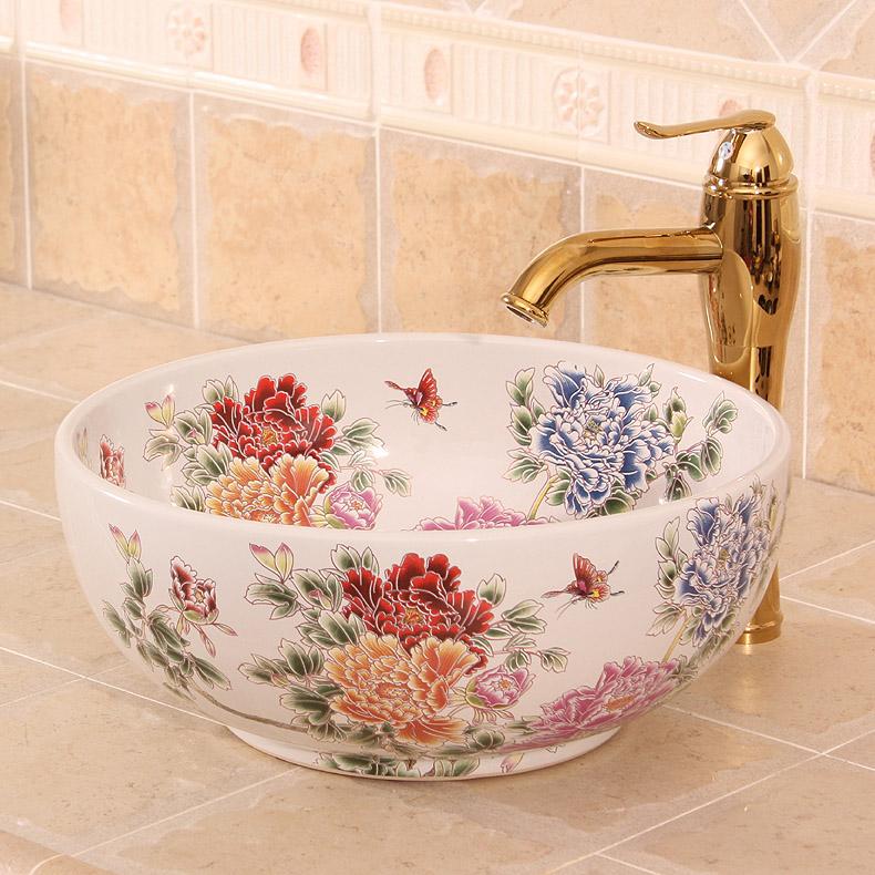 online kaufen gro handel farbige waschbecken aus china. Black Bedroom Furniture Sets. Home Design Ideas