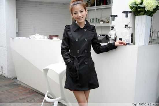 Trench Coat Korean version Women new fall clothing sales Long section  double-breasted leisure sports Slim coat, jacket F67