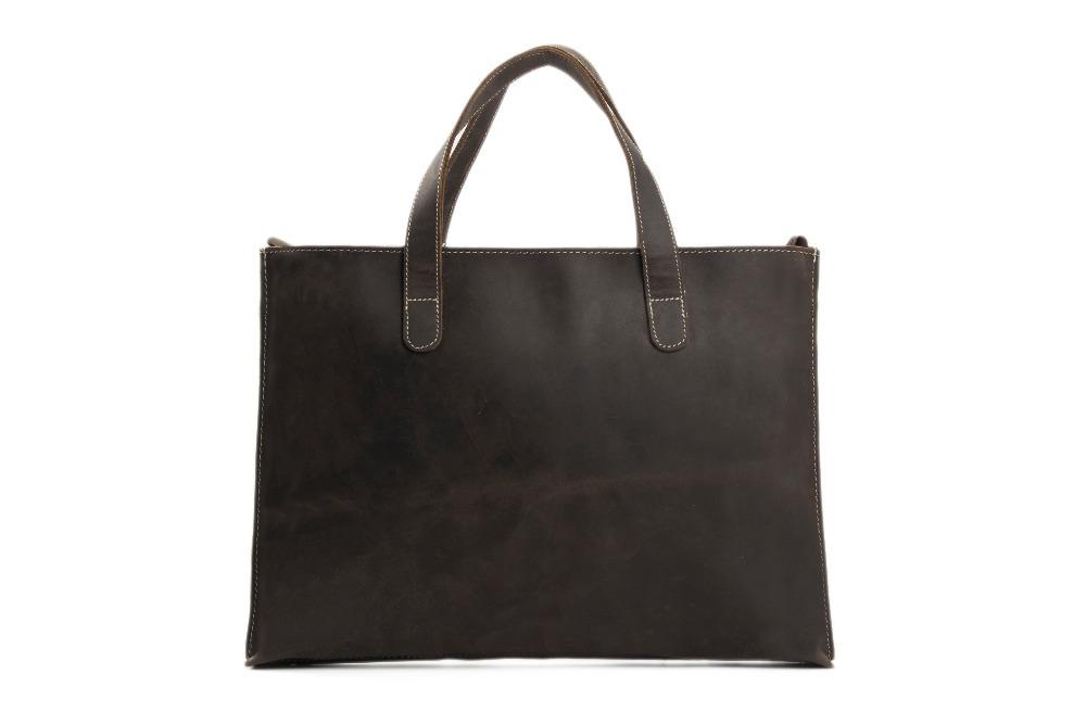 ROCKCOW Vintage Unisex Leather Briefcase Casual Bag Fashion Single Shoulder Bag Leather Laptop Bag Designer Handbag ZB02(China (Mainland))