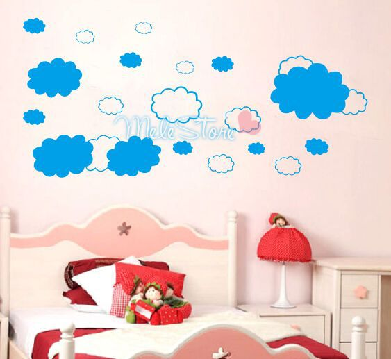 wall stickers home decor clouds wall stickers cartoon sticker for kids