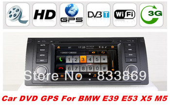 """HD 1din 7 """"Car DVD GPS Navi for BMW E39/X5/E53/5 Series With Bluetooth IPOD Radio/RDS 3D UI PIP TV AUX IN 3g/wifi free CANBUS"""
