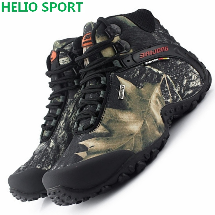 Slip Resistant Waterproof Hiking Shoes Breathable Men Casual High-top