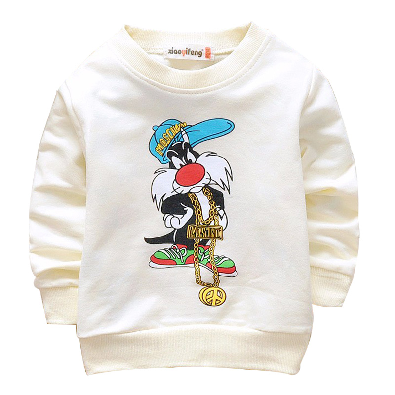 2016 Spring cotton cute cartoon 4 colors long sleeved children t shirt 0 3 year baby