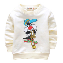 2016 Spring cotton cute cartoon 4 colors long-sleeved children t shirt 0-3 year baby t-shirts for boys girls